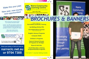 Brochures and Banners